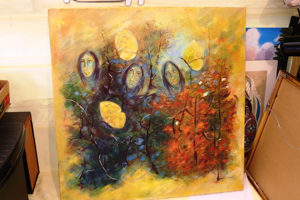 Mystical Magical Art Of Vanda Gupta Oil On Canvas Untitled 24 X 24 Inches