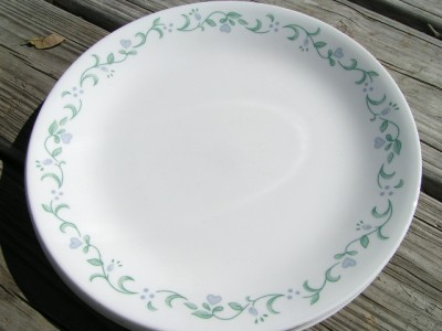 Country Cottage By Corelle Corning Lot 4 Dinner Plates Ebay