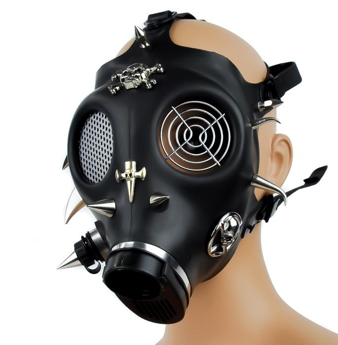 Spike Skull And Cross Full Gas Mask Gothic Techno