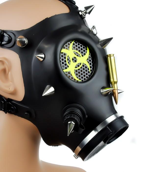 Bio Hazard Cyber Punk Bullet Spike Full Gas Mask Halloween