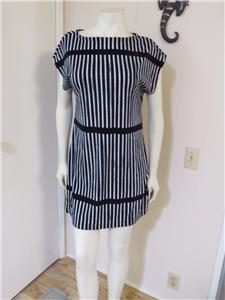 585e17567bb Darling Marimekko for Target Black and White Striped Terry Cloth Dress Size  S