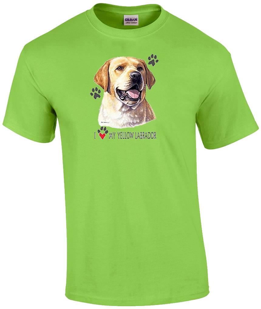 I Love My Yellow Lab Labrador Dog T-Shirt | eBay