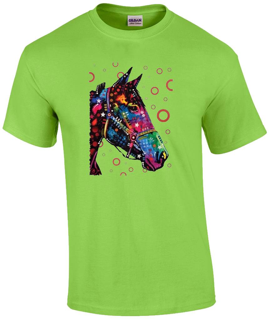 Neon Fluorescent Blacklight Horse Horseshoe Cowgirl T ...