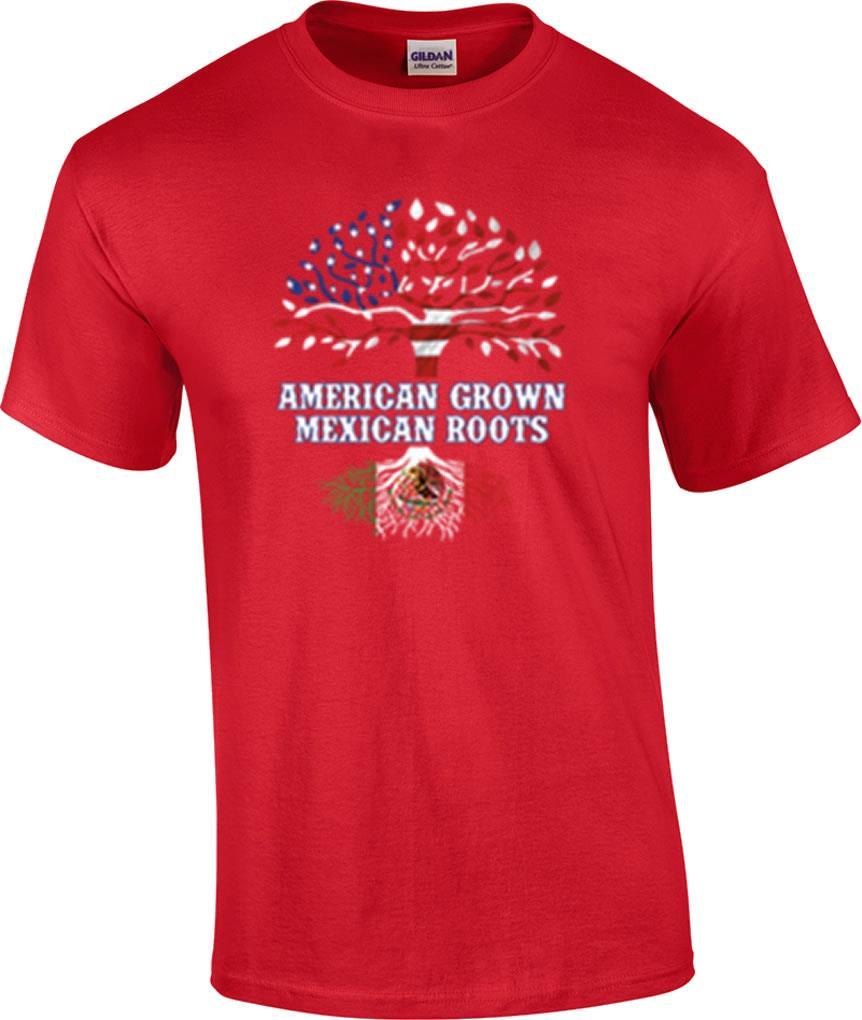 American-Grown-Mexican-Roots-Flag-Hispanic-T-Shirt