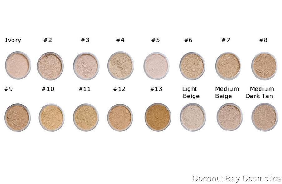 Mineral Makeup Color Comparison Chart Saubhaya Makeup