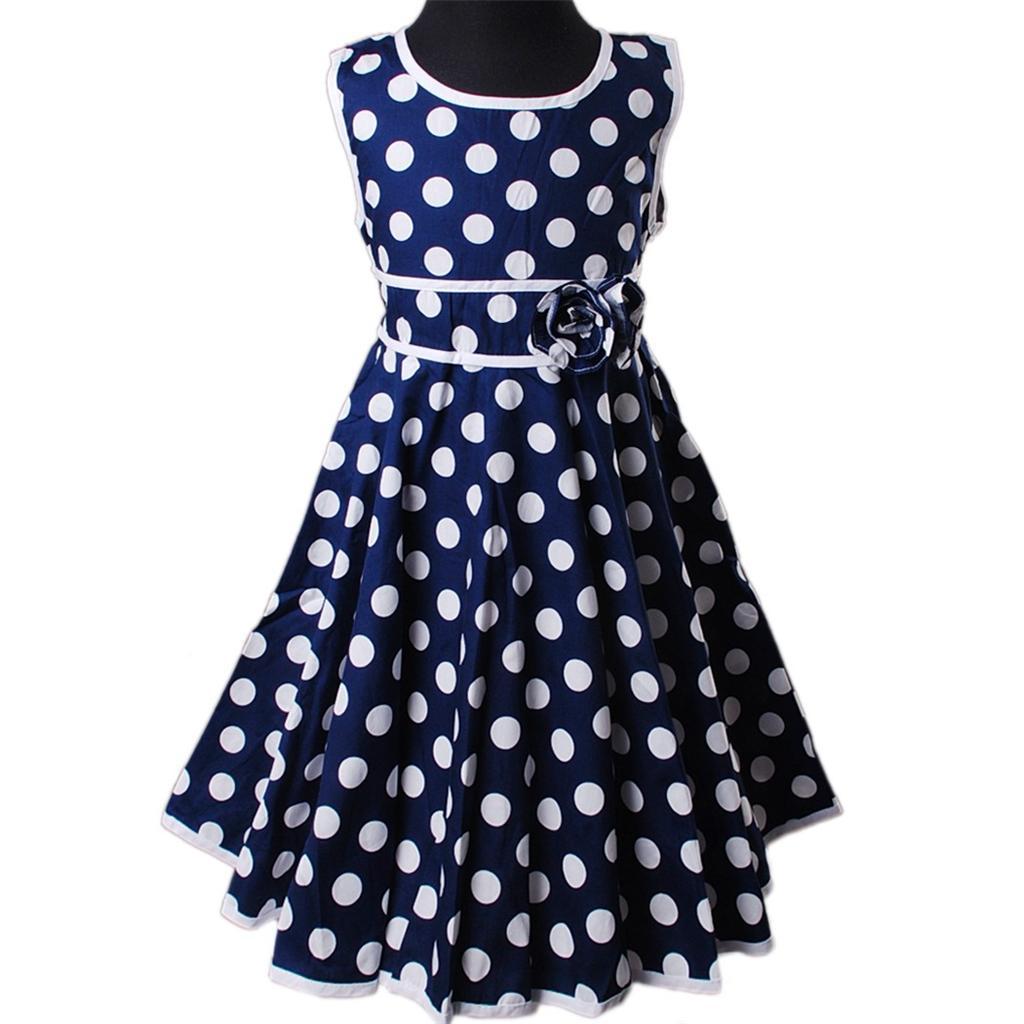 Sommerkleid blau gepunktet | Trendige Kleider für die ...