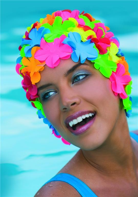 Шапочка для плавания Fashy Turban Swimming Hat Adjustable Bathing с английского eBay со 100...