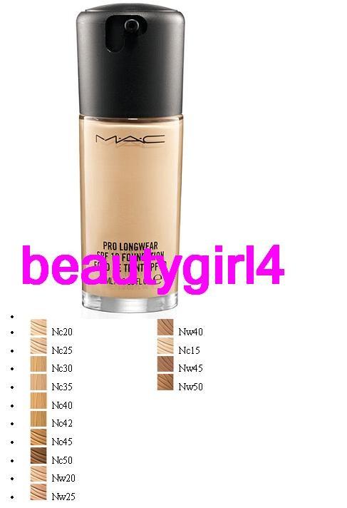 Pro Foundation Mixers By Nyx Professional Makeup: MAC Cosmetics Pro Longwear Foundation MANY COLORS Nib