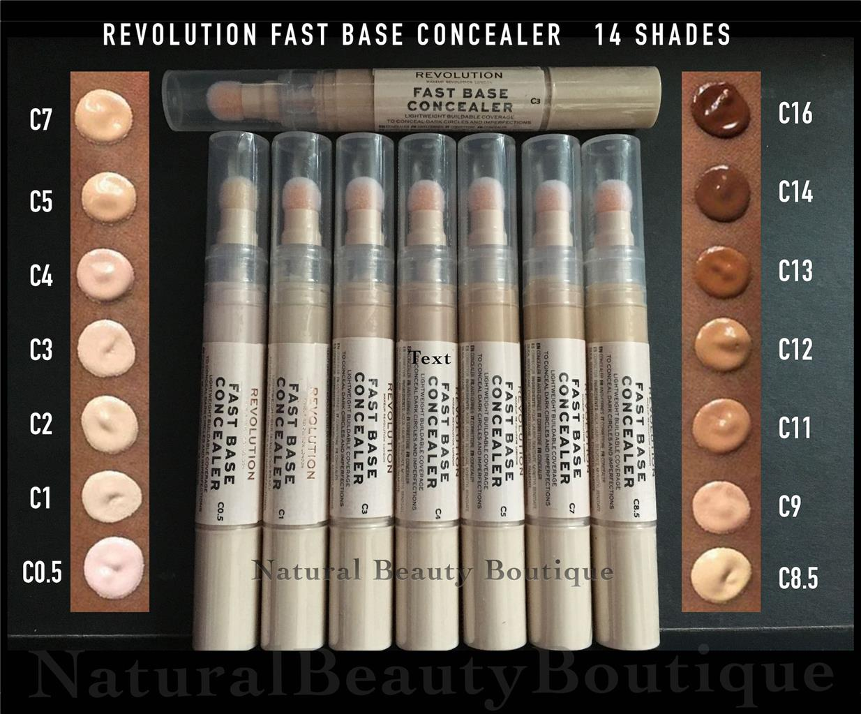 Details about MAKEUP REVOLUTION FAST BASE Light Weight Under Eye CONCEALER  \u0026 CONTOUR 14 Shades