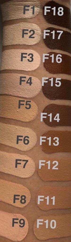 Makeup revolution conceal  define full coverage foundation swatches