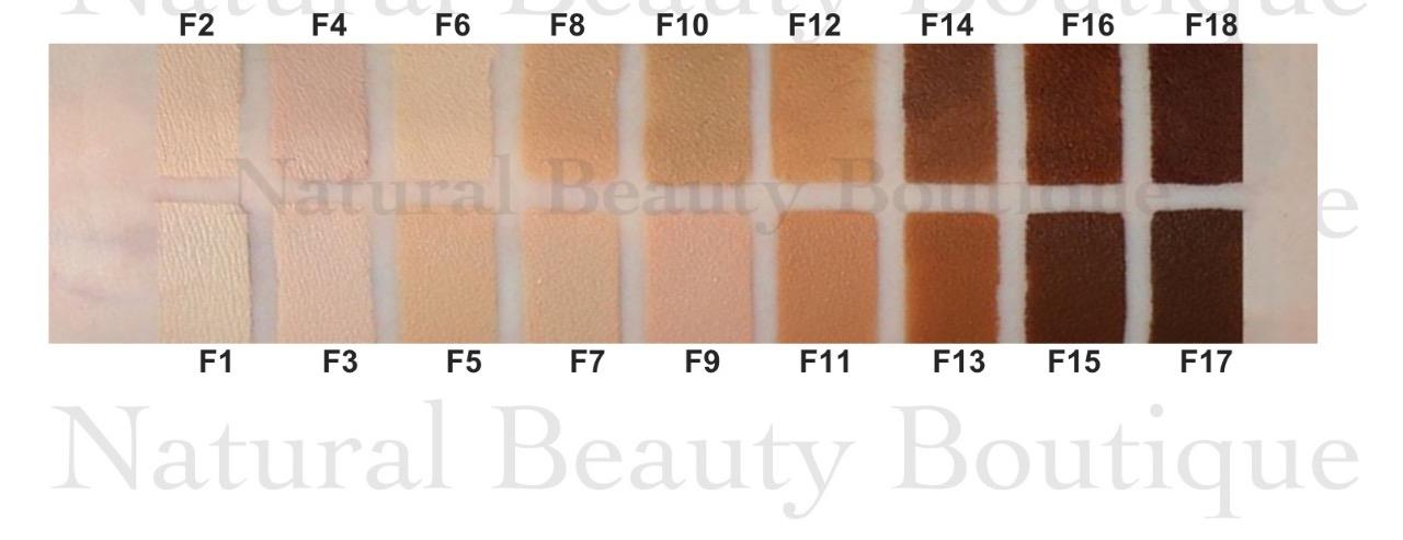 Makeup revolution face base foundation swatches