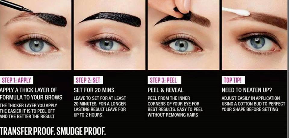 Makeup Revolution Brow Tint Semi Permanent Eyebrow Tattoo Gel Peel