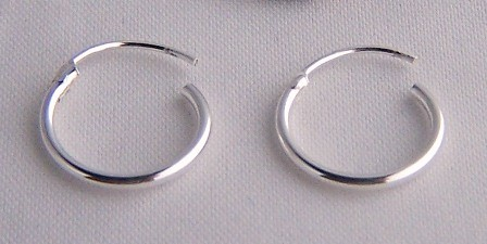 Girls 925 Sterling Silver 6mm Small Extra Tiny Hinged Hoop