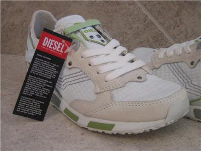 New Diesel Leather Womens Shoes Anza White Sneakers 6 NIB ...