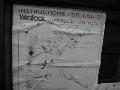 Used Weslock Door Lock Installation Boring Jig Kit Drill