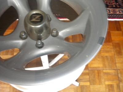 Custom Made Vintage Chrome Z Racing Tire Rim End Table Automotive Furniture