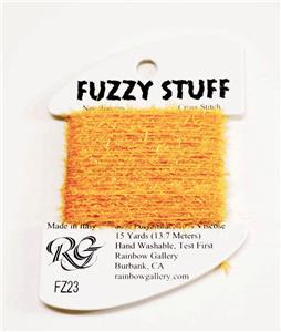 FUZZY STUFF GREEN Stitching Fiber 15 Yards Needlepoint Thread by Rainbow Gallery