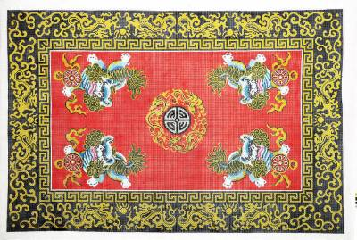 Rug Four Foo Lions Amp Medallion Oriental Rug Handpainted