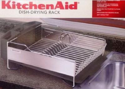 kitchenaid dish drying rack 3 piece black dish drainer. Black Bedroom Furniture Sets. Home Design Ideas