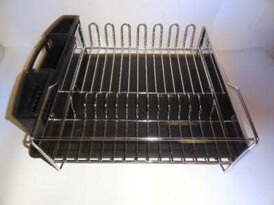 kitchenaid dish drying rack 3 piece black dish drainer ebay. Black Bedroom Furniture Sets. Home Design Ideas