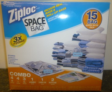 15 Bag Ziploc Space Bag Storage Bags Vacuum Seal Sealer