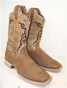 82a38ccbcef7 Men s Ariat 10018306 Mesteno Tan Dust Devil Cowboy Boots 12 D
