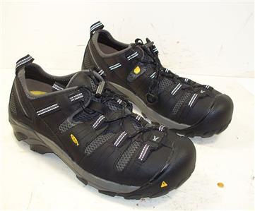 19896ded019 788TT Mens Keen Footwear Black Atlanta Cool Steel Toe WP Work Shoes ...