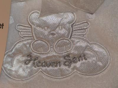 New Little Beginnings Soft White Fleece Quot Heaven Sent