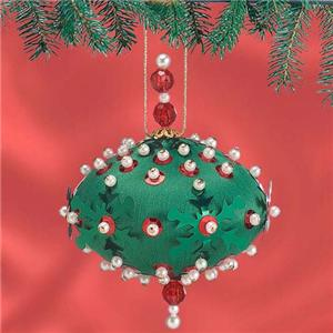 SNOWFLAKE CAROUSEL Beaded Sequin Ornaments Kit  ~ Makes 12 Ornaments