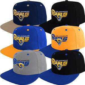 24184894920 Los Angeles Rams Snap Back Cap Writing Hat Embroidered Adjustable ...