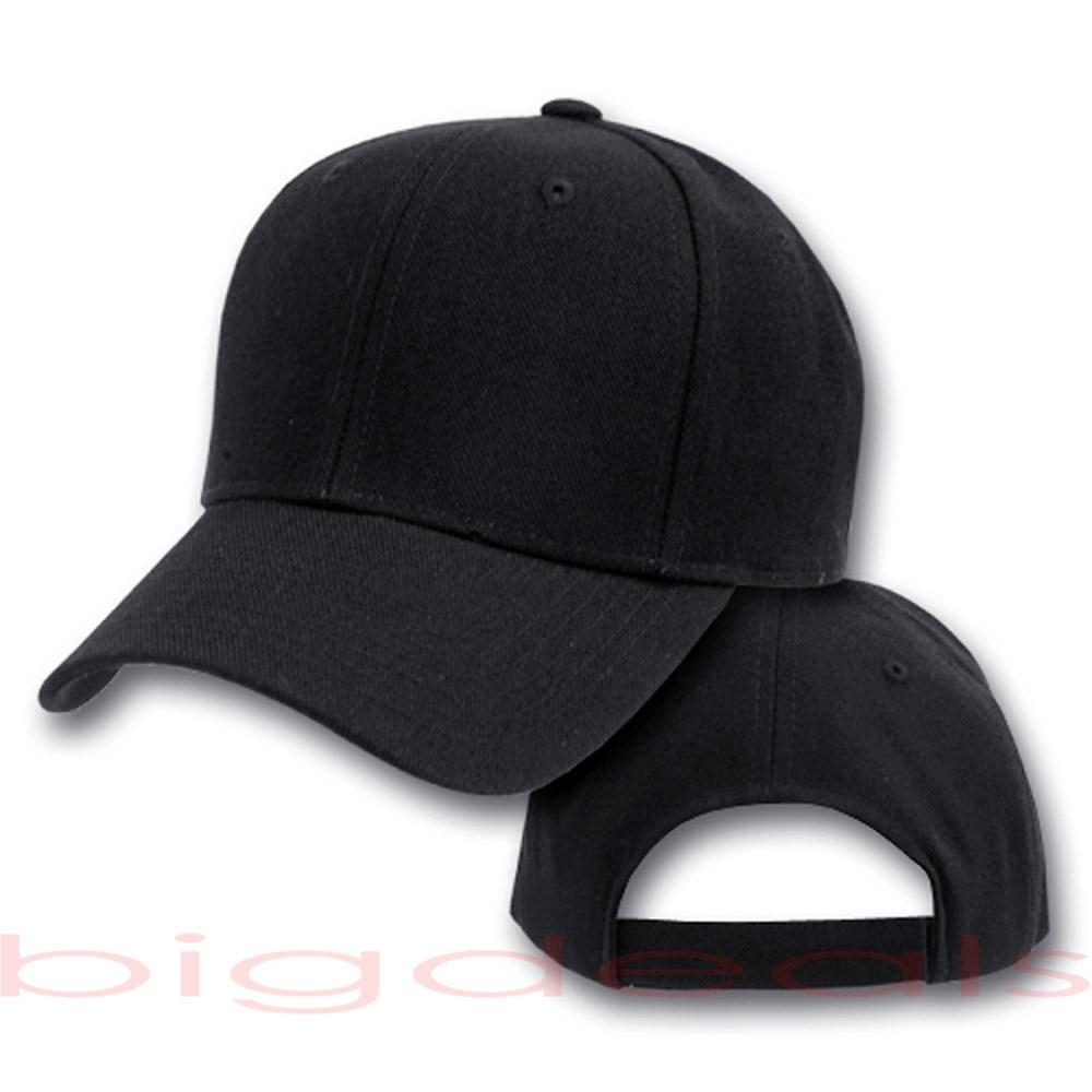 Blank Cap Plain Color Twill Six Panel 6 Solid Hat Men ...