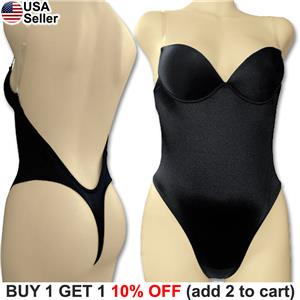 c219569a0 Backless Full Body Shaper Thong Convertible Seamless Low Back Max ...