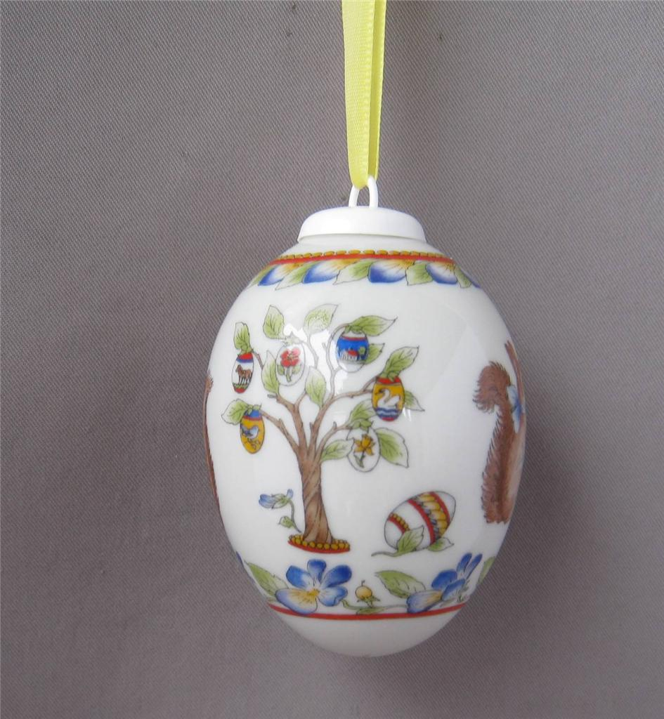 hutschenreuther germany porcelain squirrel easter egg. Black Bedroom Furniture Sets. Home Design Ideas