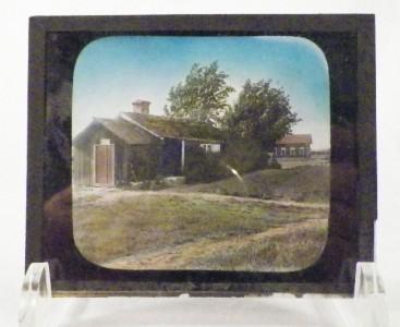 Vintage Glass Slide Old Fashioned Barn Buildings Farmhouse