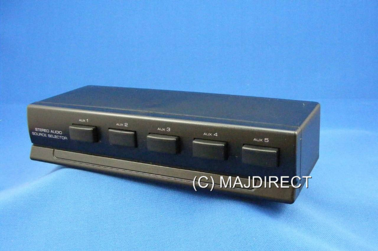 Audio Input Box : Stereo way audio source selector switch box line level