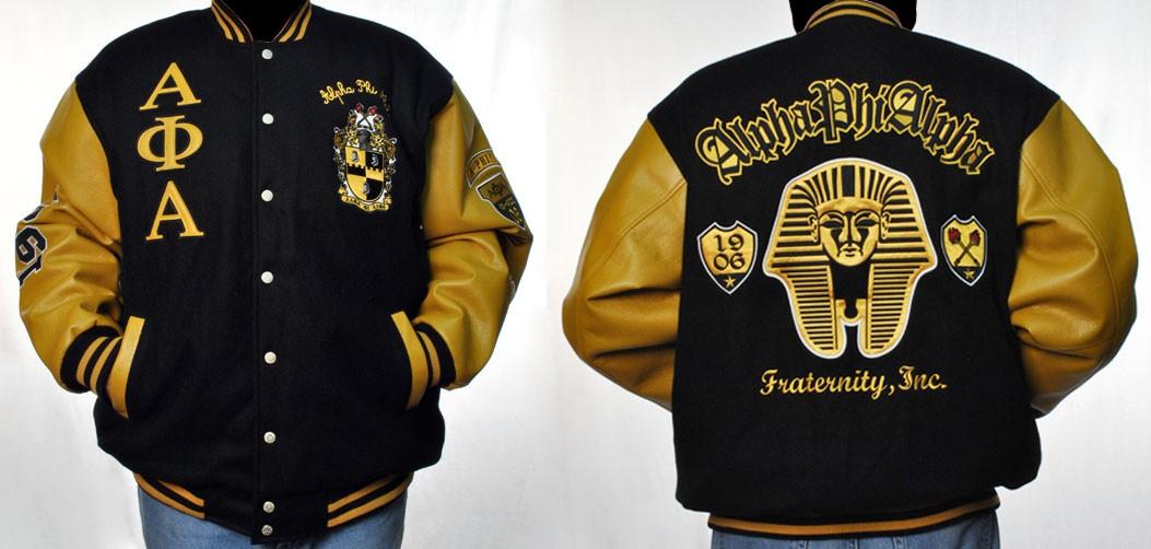Alpha Phi Alpha Fraternity Varsity Jacket Alpha Phi Alpha