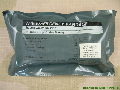"""First Care Products Military 4/"""" Inch Israeli Emergency Compression Bandage"""