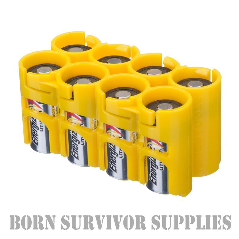 Powerpax storacell porte-batterie porte-batterie porte-batterie détient 8 x CR123 batteries Storage Caddy CR123A 4eeb67