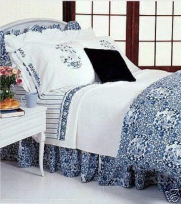 New Ralph Lauren Porcelain Blue Comforter Set Queen 4pc Ebay