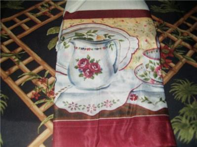 3 Pc Kitchen Curtain Set Tea For Two Teapot Tier Amp Swag