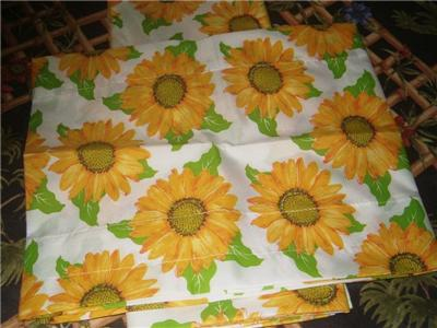 3 Pc Sunflower Kitchen Curtains Tier Amp Valance Set Ebay
