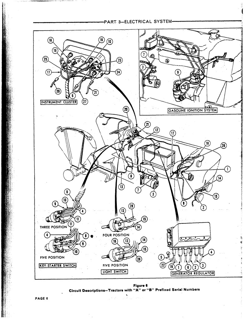 Ford 2000 Tractor Ignition Switch Wiring Diagram 48 9n Harness 467069940 O Diesel And