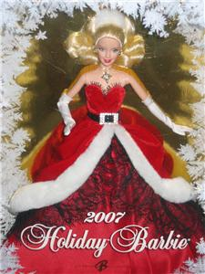 New 2007 Holiday Barbie Mrs Santa Claus Christmas Doll Red