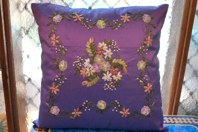 Ribbon Flowers Cushion Covers Flowers Healthy