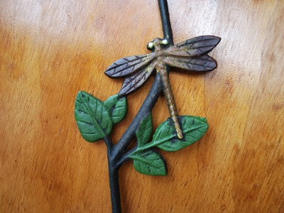 Long Cast Iron S Hook Plant Basket Hanger Dragonfly Ebay