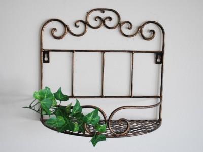 glamorous wrought iron kitchen wall shelves | Wrought Iron French Sty Wall Shelf Bath Kitchen Laundry | eBay