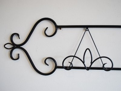 Wrought Iron Wall Plate Holder Rack Display Gloss Black 100cm | eBay. Wrought Iron Wall Plate Holder Rack Display Gloss Black 100cm EBay & Charming Wrought Iron Plate Holders For The Wall Contemporary - Best ...