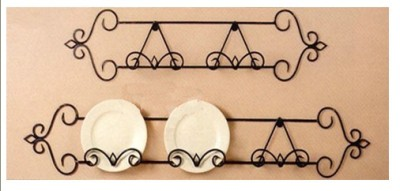 Please note this price is for 3 plates holder only. Shorter size for 2 plates in the picture is listed separately at different price.  sc 1 st  eBay & Hand Iron 3 Plates Holder Wall Plate Rack Display 130cm 002 B2013 | eBay