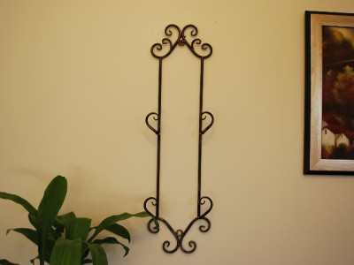 Wrought Iron French Wall Plate Holder Rack Display 74cm Ebay