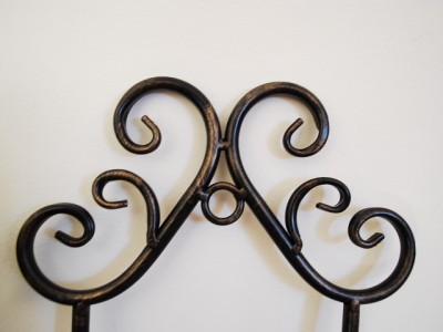 Wrought Iron French Wall Plate Holder Rack Display 74cm | eBay